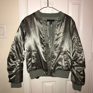 Forever21 Metallic Grey-Green Jacket